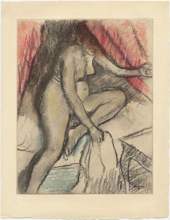 Radierung Und Aquatinta Degas - Étude de nu (vers 1880)