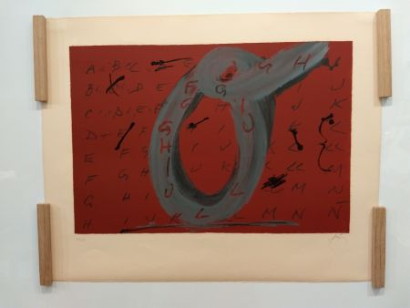 Lithographie Tapies - 1972