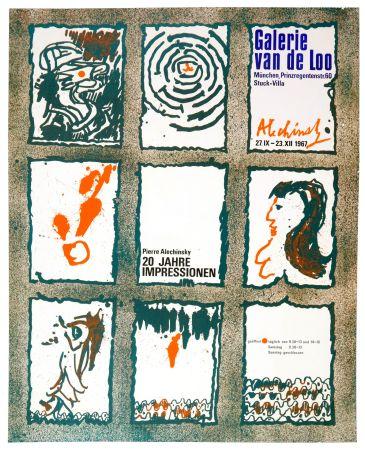 Plakat Alechinsky - 20 Jare Impressionen 1967
