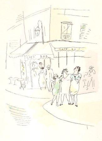 Illustriertes Buch Pascin - 3 petites filles dans la rue.  Dessins en couleurs de Pascin