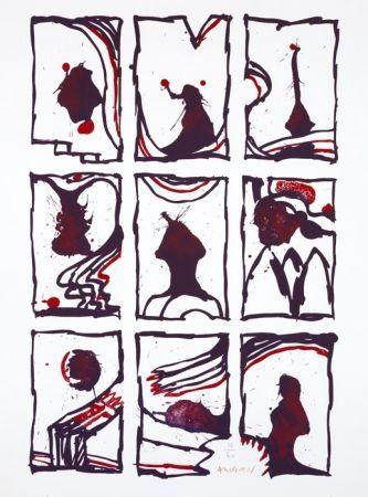 Lithographie Alechinsky - 3 x 3