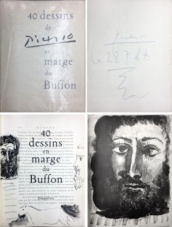 Illustriertes Buch Picasso - 40 DESSINS DE PICASSO EN MARGE DU BUFFON. Exemplaire signé et daté par Picasso