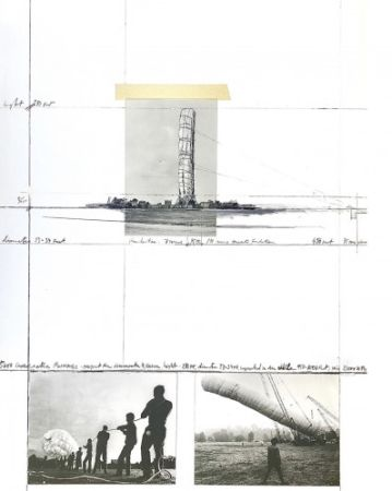 Multiple Christo - 5600 m3 Package, Project for Documenta 4, Kassel,