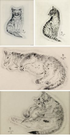 Illustriertes Buch Foujita - A BOOK OF CATS. being Twenty Drawings by Foujita. New York 1930