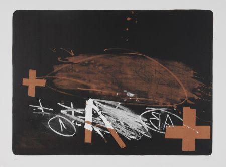 Lithographie Tàpies - A effacé