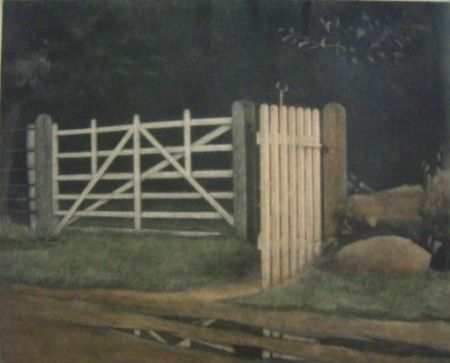 Mezzotinto Ilsted - A gate in the wood