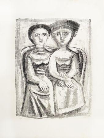 Lithographie Campigli - A Giuditta
