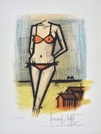 Lithographie Buffet - A la Plage