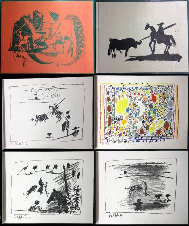 Illustriertes Buch Picasso - A LOS TOROS avec Picasso. 4 lithographies originales (1961)