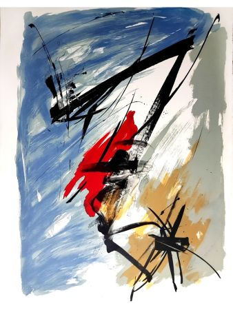 Lithographie Miotte - Abstract Composition