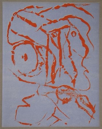 Lithographie Alechinsky - Abstract head