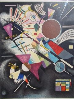 Lithographie Kandinsky - Accompagnement noir