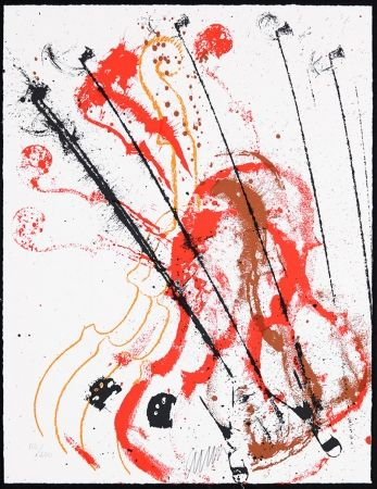 Siebdruck Arman - Accords à cordes III
