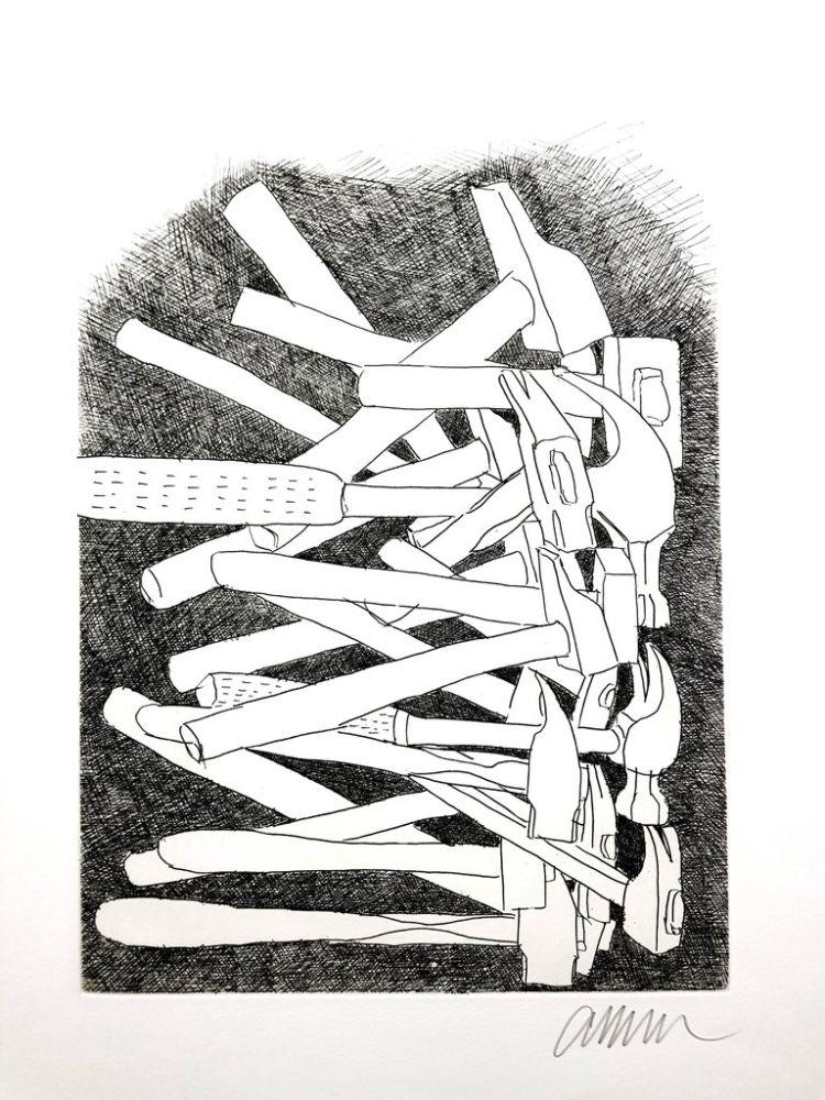 Lithographie Arman - Accumulations