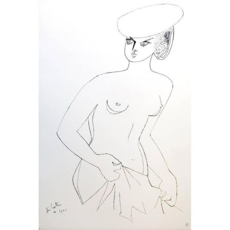 Lithographie Cocteau - Actrice