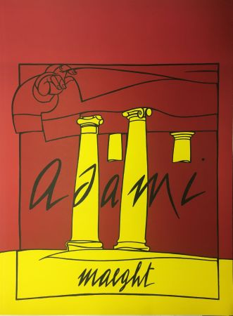 Lithographie Adami - ADAMI 1980 : Lithographie originale pour la Galerie Maeght.
