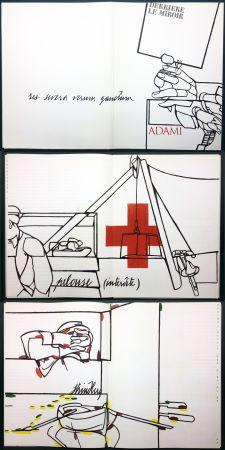 Illustriertes Buch Adami - ADAMI. Le voyage du dessin. DERRIÈRE LE MIROIR N° 214. Mai 1975.