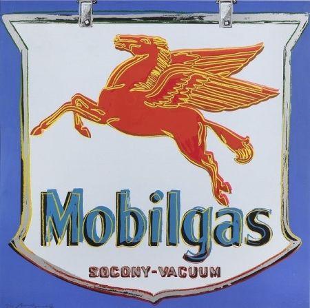Siebdruck Warhol - Ads: Mobilgas