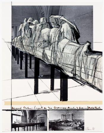 Siebdruck Christo - Aegena Temple Project for Munich Glyptotek