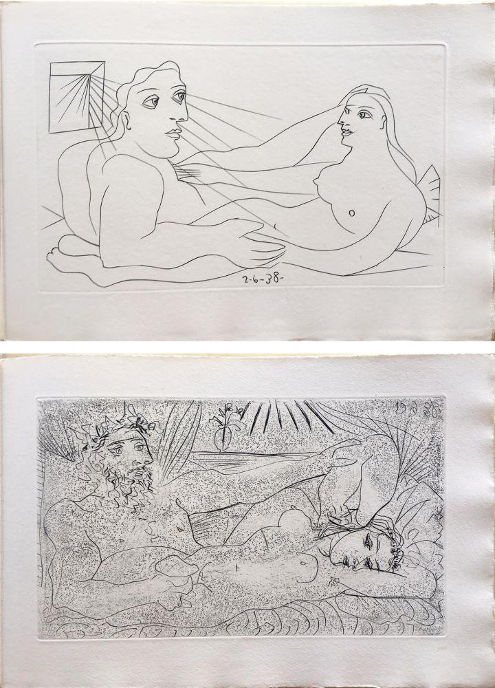Illustriertes Buch Picasso - AFAT. Soixante-seize sonnets (1939).