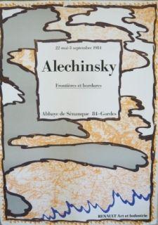 Plakat Alechinsky - Affiche exposition Abbaye de Sénanque