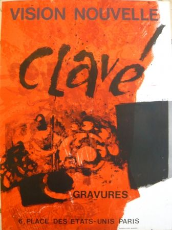 Plakat Clavé - Affiche exposition Vision nouvelle