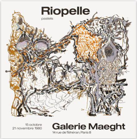 Plakat Riopelle - Affiche lithographique originale de la Galerie Maeght 1980.