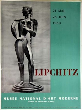 Lithographie Lipchitz -   Affiche Musee National D'Art Moderne