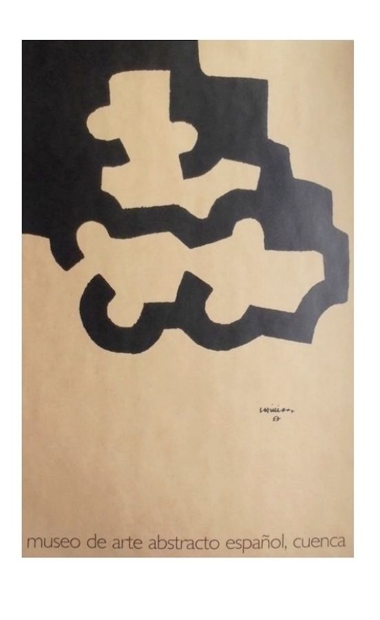 Lithographie Chillida - Affiche Museum Cuenca