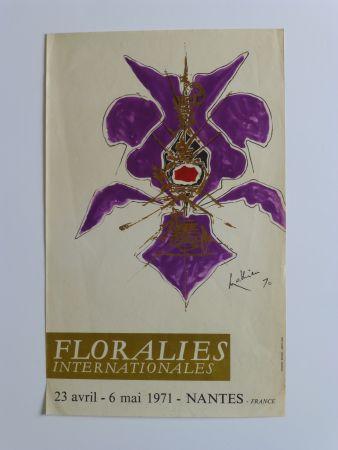 Plakat Mathieu - Affiche pour les floralies de Nantes 1971