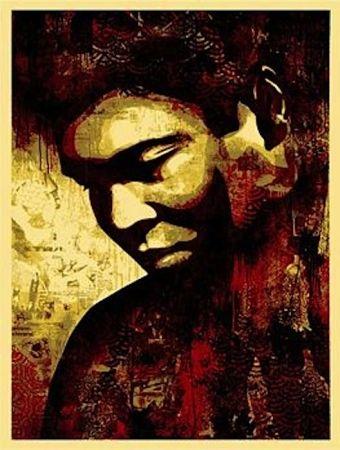 Siebdruck Fairey - Ali Canvas
