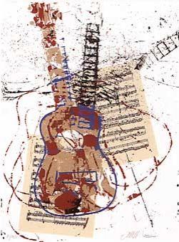Siebdruck Arman - Allegro pour guitare