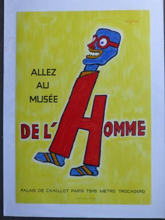 Plakat Savignac - Allez au musée de l'homme