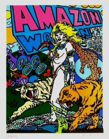 Lithographie Erro - Amazone