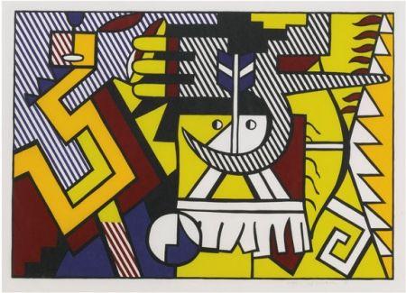 Holzschnitt Lichtenstein - American Indian Theme VI