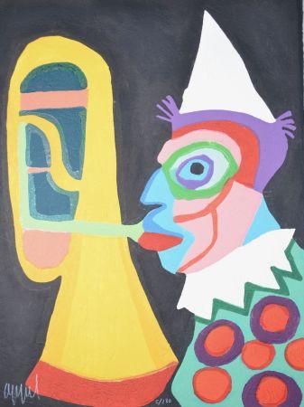 Aquatinta Appel - Amsterdam clown