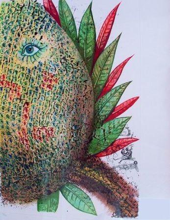 Kaltnadelradierung Dali - Ananas (Pineapple)