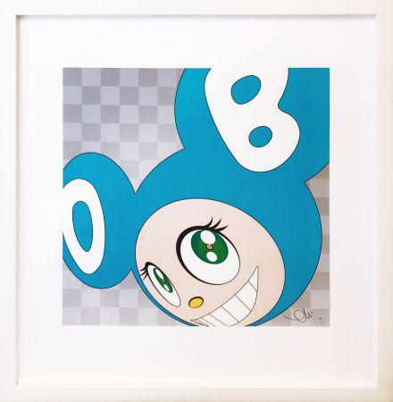 Lithographie Murakami - AND THEN . . . (AQUA BLUE)