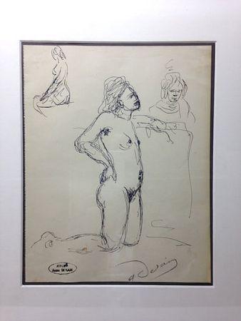Keine Technische Derain - André Derain (1880-1954). Etude de nu. Encre sur papier signée.