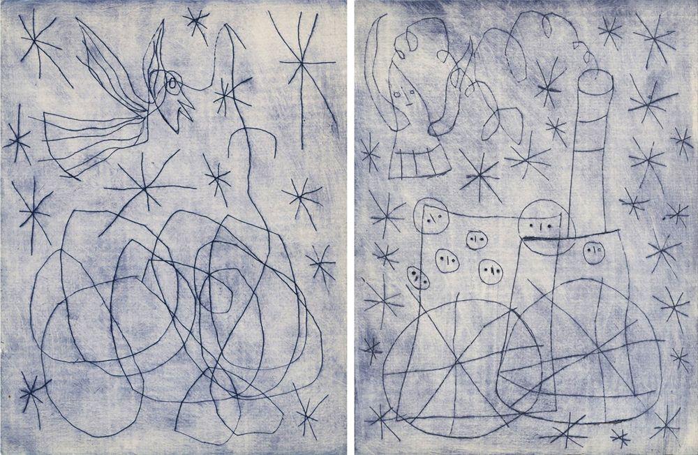 Illustriertes Buch Miró - André Frénaud : NOËL AU CHEMIN DE FER. [ALÈS, PAB, 1959].
