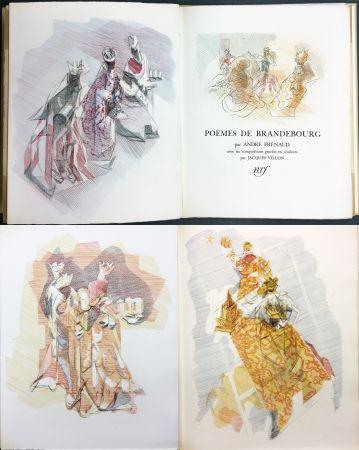 Illustriertes Buch Villon - André Frénaud : POÈMES DE BRANDEBOURG (1947)