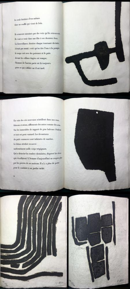 Illustriertes Buch Ubac - André Frénaud :VIEUX PAYS suivi de Campagne (1967). Avec suite signée.