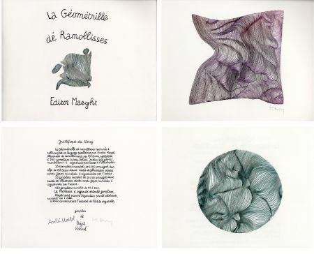 Illustriertes Buch Bury - André MARTEL : LA GÉOMÉTRILLE DÉ RAMOLLISSES. Textures paralloïdes d'André Martel vec dé mollimages de Pol Bury (1975)