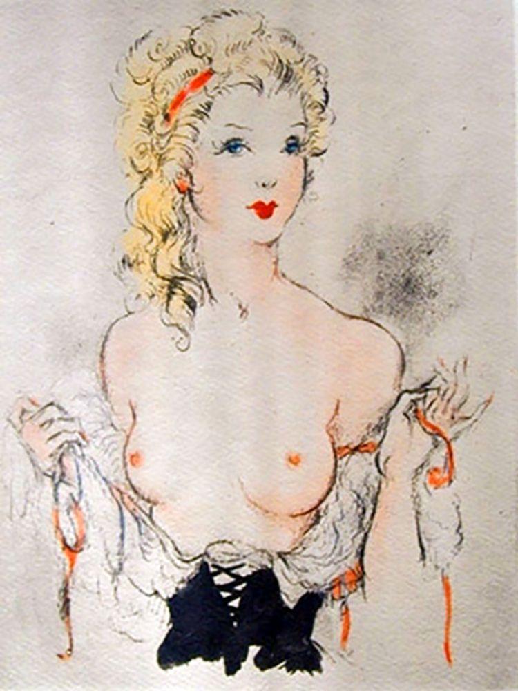 Illustriertes Buch Icart - Andréa de Nerciat : FÉLICIA OU MES FREDAINES. 20 eaux-fortes par Louis Icart (1947).