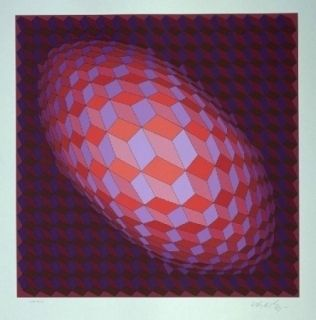 Lithographie Vasarely - Andromeda