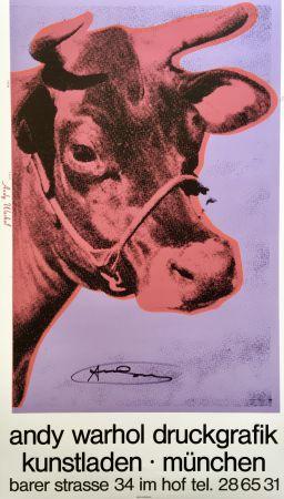 Siebdruck Warhol - Andy Warhol 'Cow Wallpaper (Magenta)' 1983 Hand Signed Original Pop Art Poster