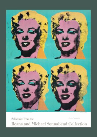 Lithographie Warhol - Andy Warhol 'Four Marilyns' 1985 Hand Signed Original Pop Art Poster