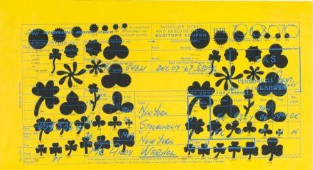 Siebdruck Warhol - Andy Warhol Sas Passenger Ticket (Feldman & Schellmann Ii.20)