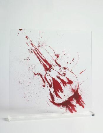 Siebdruck Arman - Angry violin