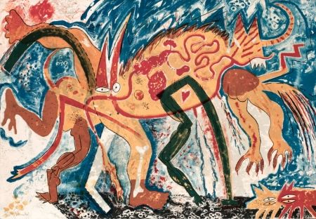 Lithographie Barcelo - Animal amb tres pixerades